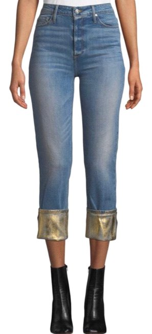 Item - Light Wash Taylor Foiled Straight Leg Jeans Size 6 (S, 28)