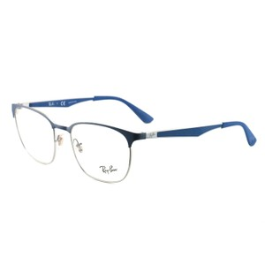 Ray-Ban RB635628765218145 Silver/Blue Aluminum 52 18 145 Authentic