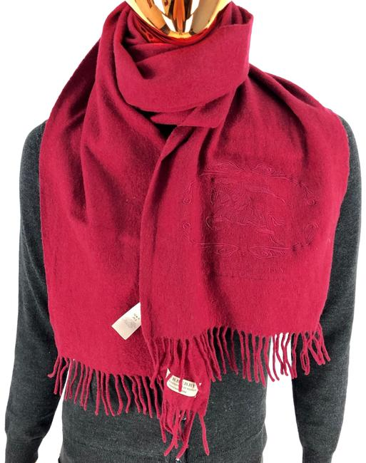 Item - Red Cashmere with Logo Scarf/Wrap
