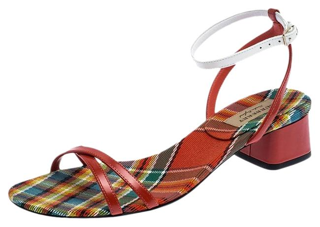 Burberry Multicolor Color Block Leather Anthea Cross Strap Open 38.5 Sandals Size US 7.5 Regular (M, B) Burberry Multicolor Color Block Leather Anthea Cross Strap Open 38.5 Sandals Size US 7.5 Regular (M, B) Image 1