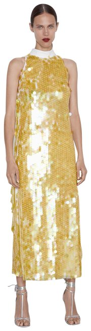 Item - Yellow New Sequinned 7929/046 Long Cocktail Dress Size 2 (XS)