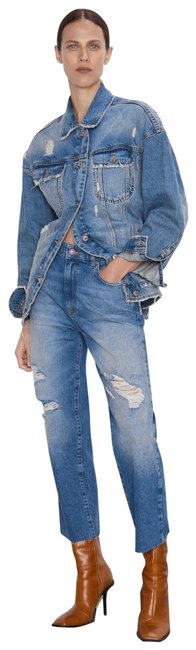 Item - Z1975 High Rise Cropped with Rips Straight Leg Jeans Size 8 (M, 29, 30)