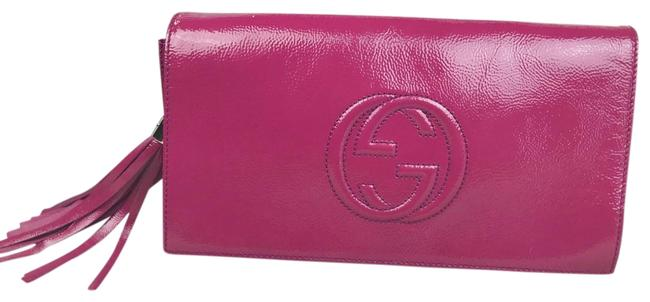 Item - Soho 27338 Pink Patent Leather Clutch