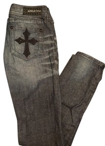 Affliction Skinny Jeans-Medium Wash