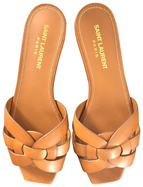 Item - Brown Tribute Leather Slide Sandals Size EU 36.5 (Approx. US 6.5) Regular (M, B)