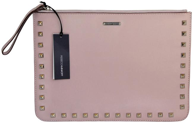 """Item - New with Tags """"Lissa Pouch"""" with Studs Lavender Leather Clutch"""