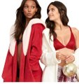 Victoria's Secret Red Kimono L The Cozy Hooded Long Robe Shower M/L Cardigan Size 10 (M) Victoria's Secret Red Kimono L The Cozy Hooded Long Robe Shower M/L Cardigan Size 10 (M) Image 1