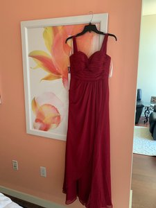 """Azazie Burgundy Red """"millie"""" A4 Formal Bridesmaid/Mob Dress Size 4 (S)"""