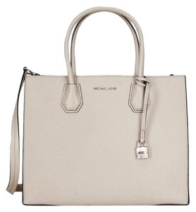 Michael Kors Collection Tote Leather Satchel in light grey