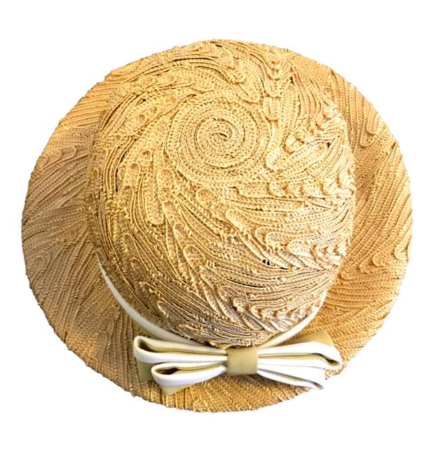 Item - Straw Vintage Miss Bow-accent Hat