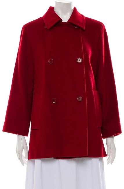 Item - Burgundy Red Camel Hair Mid-length Coat Size 8 (M)