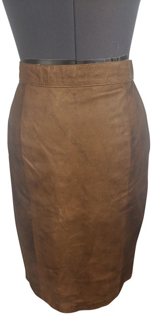 Item - Brown 1991 Deadstock Leather Skirt Size 8 (M, 29, 30)