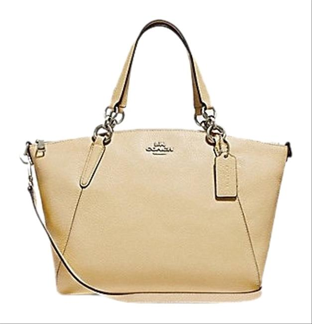 Item - Kelsey Small Vanilla/Silver Leather Satchel