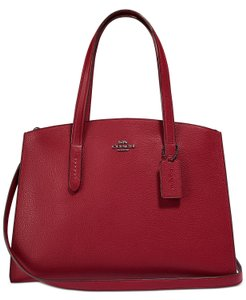 Coach Tote in Deep Red