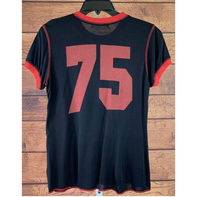 Chaser Chaser Rolling Stones Tongue Red Stitch Black/Red Women's Shirt Size L Image 1