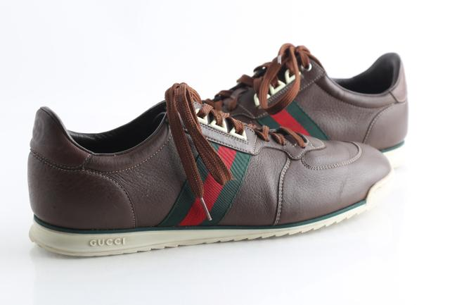 Item - Brown Leather Sneakers Shoes