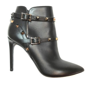 Valentino Rockstud Ankle Leather black Boots