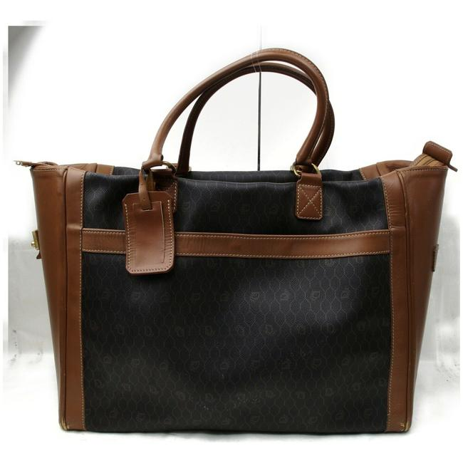 Item - Duffle XL 872262 Black Signature Oblique Monogram Trotter Brown Coated Canvas Weekend/Travel Bag