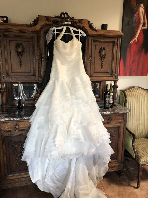 David S Bridal Ivory Polyester Galina Signature Feminine Wedding Dress Size 16 Xl Plus 0x Tradesy