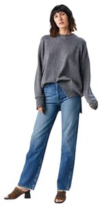 RE/DONE Loose Fit Boyfriend Casual Distressed Straight Leg Jeans-Distressed