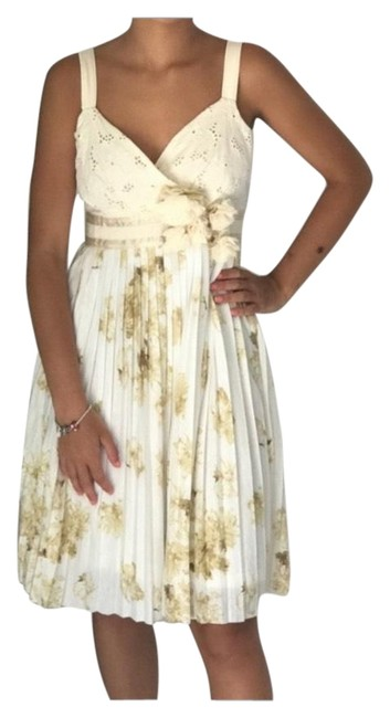 Item - Ivory Tea Sweets Short Casual Dress Size 4 (S)