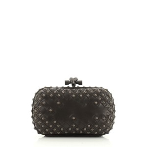 Bottega Veneta Leather & Suede Black Clutch