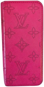 Louis Vuitton Hot Magenta Pink Mahina Leather IPhone 6 - 8 card holder case
