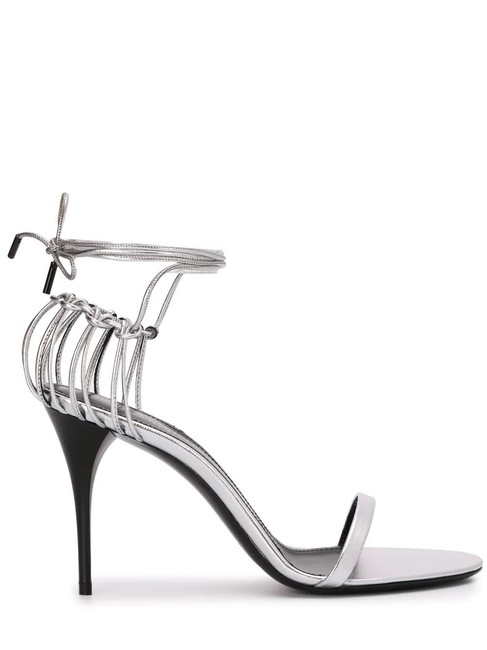 Item - Silver Gr Lexi Sandals In Smooth Leather Pumps Size EU 39.5 (Approx. US 9.5) Regular (M, B)
