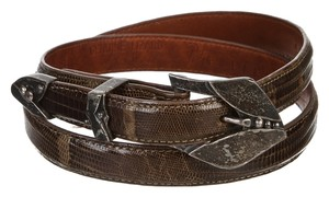 Pat Areias Pat Areias Brown Lizard Belt (Size 28)