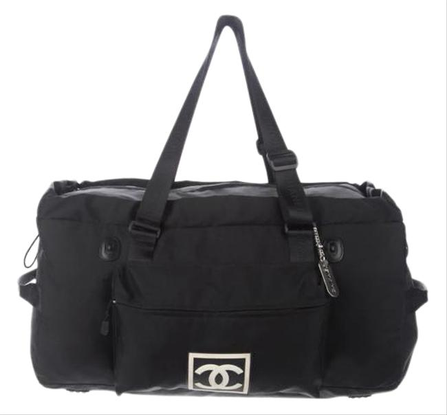 Item - Shopping Tote Duffle Cc Sport Line Black Nylon Weekend/Travel Bag