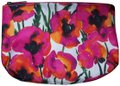 Clinique Colorful Poppy Flower Cosmetic Bag Zippered Pouch Poppies Ladybugs