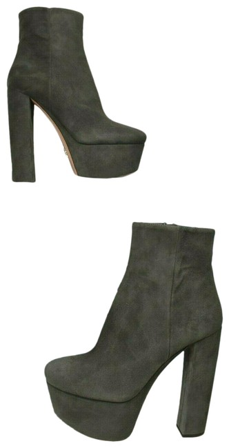 Prada Gray 1tp245 Suede Zip High Thick Heel Platform Ankle Boots/Booties Size EU 38.5 (Approx. US 8.5) Regular (M, B) Prada Gray 1tp245 Suede Zip High Thick Heel Platform Ankle Boots/Booties Size EU 38.5 (Approx. US 8.5) Regular (M, B) Image 1