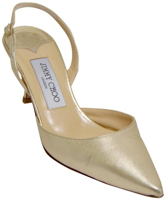 Item - Platinum Gold Slingback Pumps Size EU 38 (Approx. US 8) Regular (M, B)