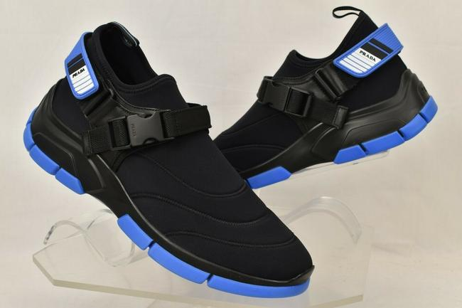 Item - Black 4d3359 Neoprene Blue Strapped Bootie Logo Sneakers 8 Us 9 Shoes
