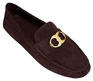 TORY BURCH Loafers Suede 9 BROWN Flats