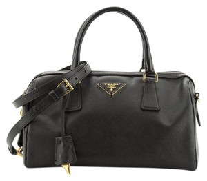 Prada Leather Satchel in Black