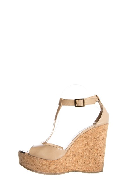 Item - Nude Patent Leather Platform Wedges Size EU 40.5 (Approx. US 10.5) Regular (M, B)