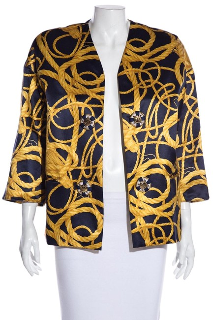 Item - Multicolor Navy & Gold Jacket Size 6 (S)