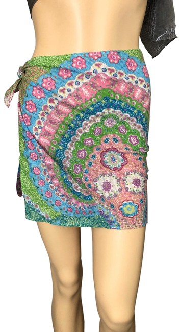 Item - Green/Blue/Pink Blue/Green Skirt Cover-up/Sarong Size 6 (S)