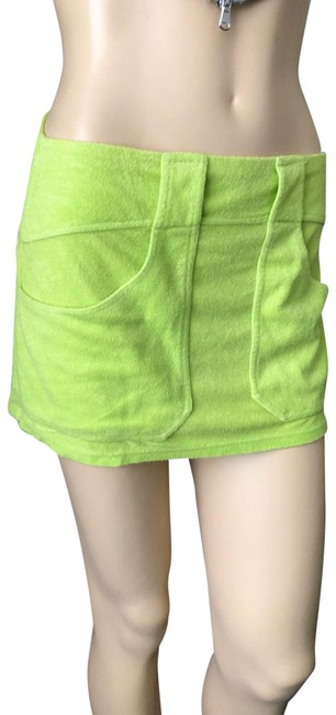 Item - Green Neon Mini Skirt Cover-up/Sarong Size 6 (S)