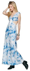Blue White Maxi Dress by Free People