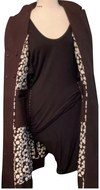 Item - Brown With Funky Lining Good Looking Both Chic and Fun Coat Size 10 (M)