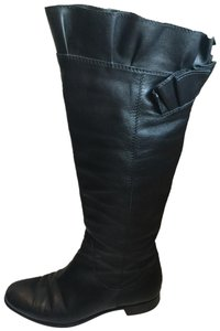 Moschino Classic Riding Knee Black Boots