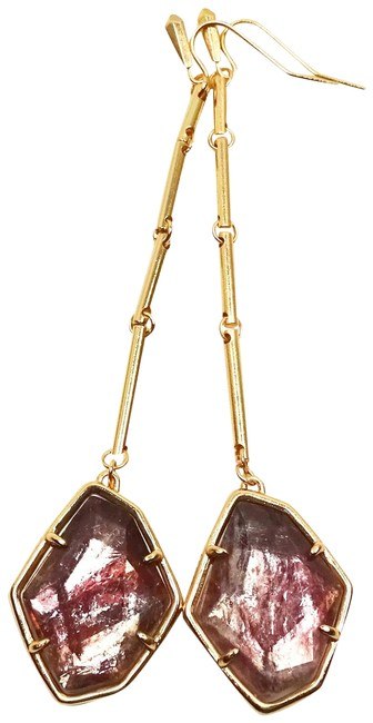 Item - Sable Charmian Rose Gold Plated Mica Drop Earrings