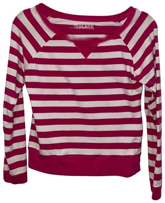 Item - Pink and White Striped Longsleeve Tee Shirt Size 12 (L)