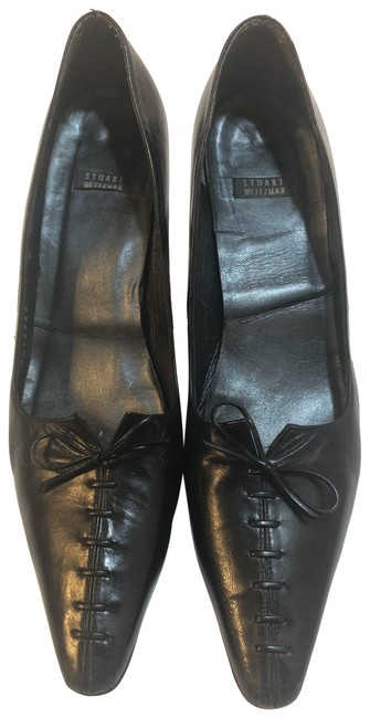 Item - Black Leather Lace Up Pumps Size US 8 Narrow (Aa, N)