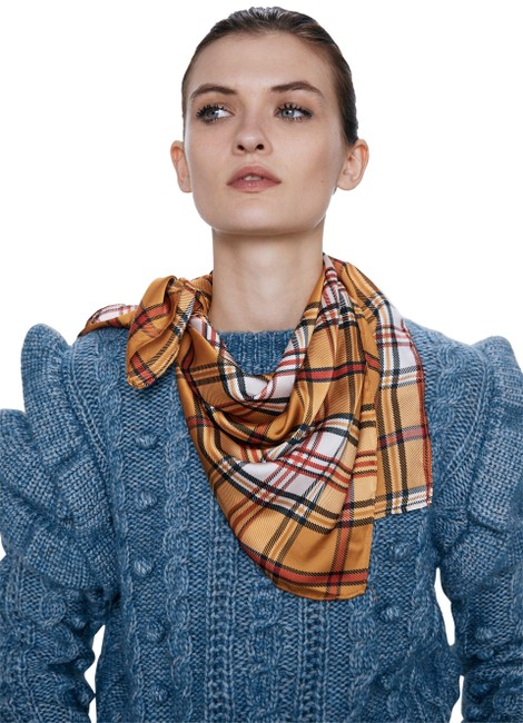 Item - Brown New Plaid Small 0594/212 Scarf/Wrap