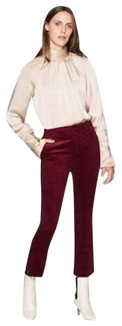 Item - Wine Velvet Medium Wash Jodi Cropped Flare Leg Jeans Size 4 (S, 27)