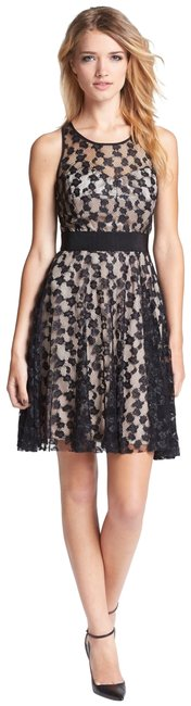 Item - Black Lace Overlay Fit N Short Cocktail Dress Size 2 (XS)