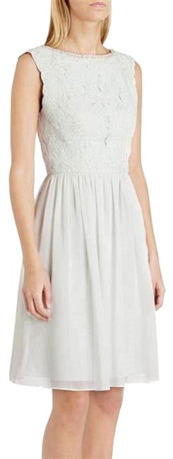 Item - Pale Green Iria Embellished Lace Bodice Short Cocktail Dress Size 6 (S)